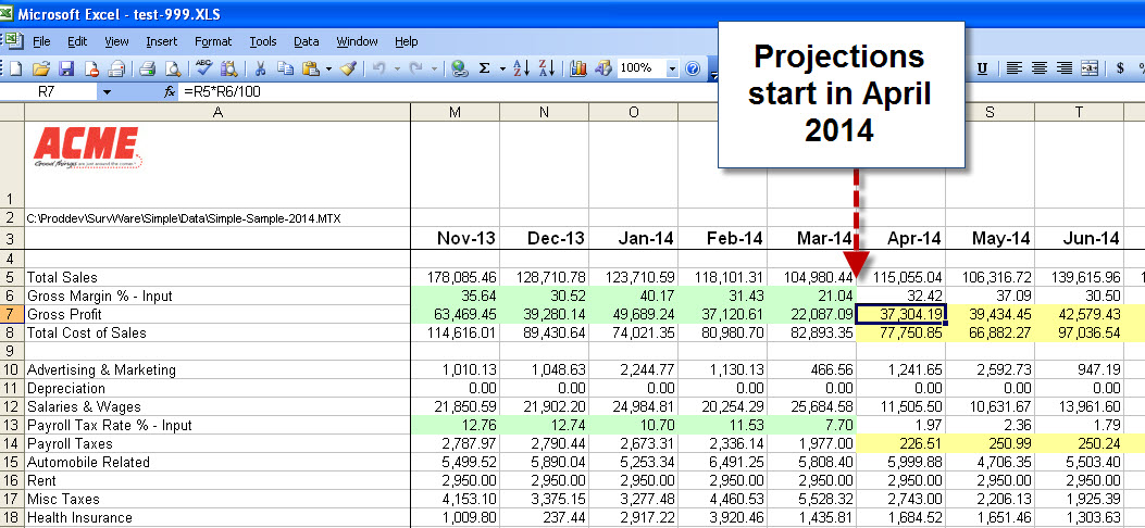 excel financial model template